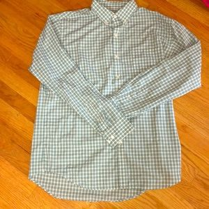 Men's button down t shirt- worn once- size large